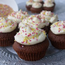 cupcake blanco y negro