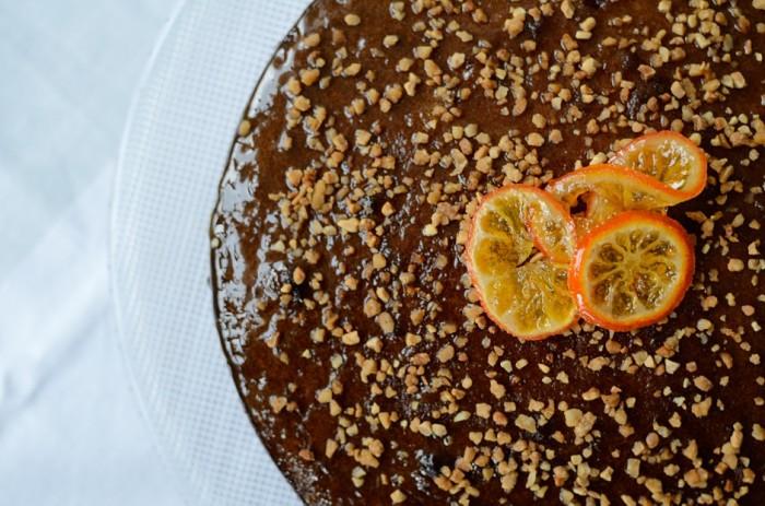 Cake de almendras y mandarina